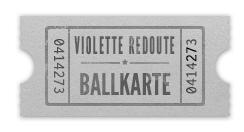 Ballkarte für die Violette Redoute
