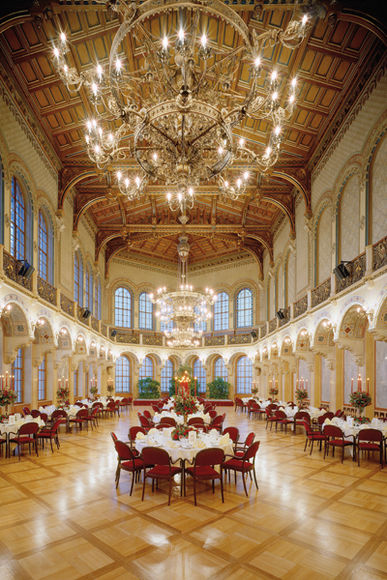 Foto des großen Ferstelsaals im Palais Ferstel
